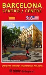 BARCELONA CENTER MAP IN SPANISH AND EN...