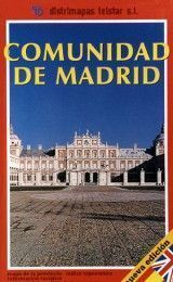 COMMUNITY OF MADRID MAP IN SPANISH AND ENGLISH