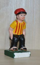 Caganer Figurine With Catalan T-shirt...