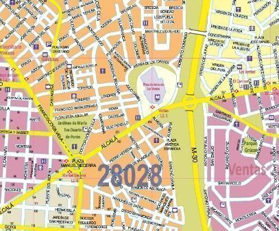 MADRID CITY MAP IN SPANISH AND ENGLISH...
