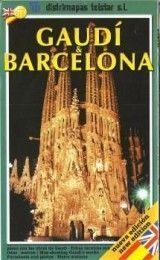 BARCELONA GAUDI MAP IN ENGLISH AND SPA...