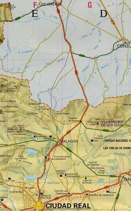 Ciudad real map in spanish and english distrimapas telstar ciudad real map in spanish and english gumiabroncs Gallery