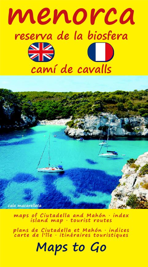 MAPA DE MENORCA – MAPS TO GO EN INGLES Y FRANCES