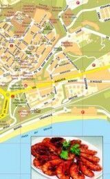 TARRAGONA MAP IN SPANISH, CATALAN, ENGLISH, FRENCH, GERMAN AND RUSSIAN – PAPER WALL MAP